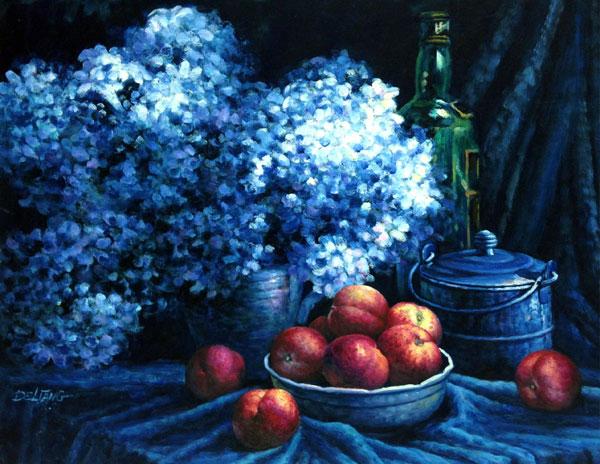 王德亮油畫12號.莫奈畫室的藍色時期