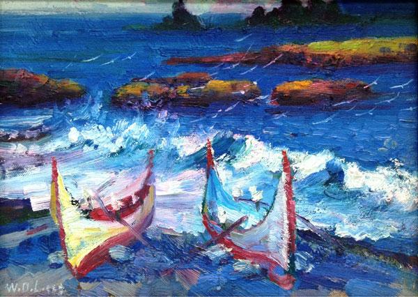 王德亮油畫4號.蘭嶼海邊