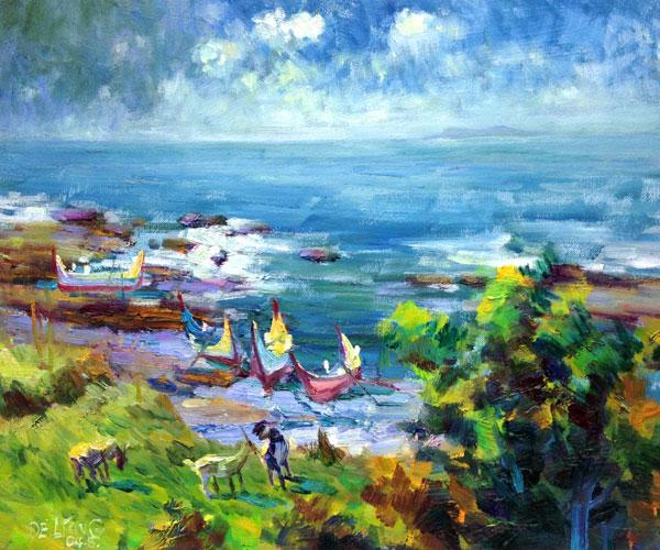 王德亮油畫8號.蘭嶼之濱