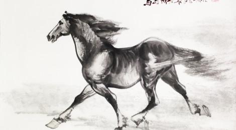 十八駿馬.萬馬奔騰國畫