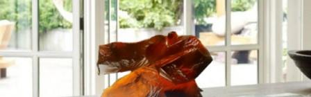 琥珀琉璃太極(大)LIULI TAICHI in Amber Color